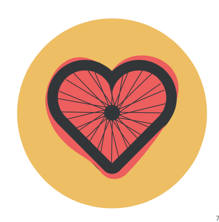 Love to Ride Heart Wheel